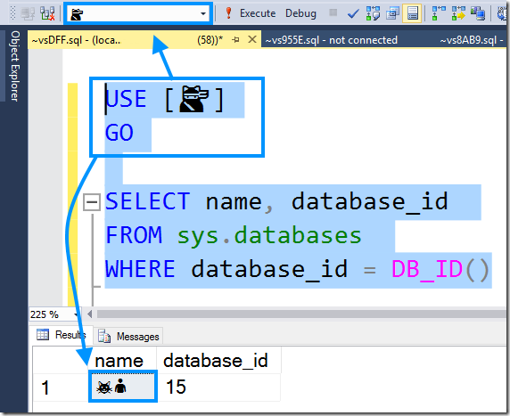 sysdatabases shows different